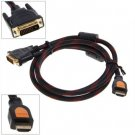 New 5FT Gold HDMI Male to DVI Cable for HDTV LCD 1.5M