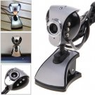 Chic Rounded Triangle 6 LED Lighting Digital PC Camera Webcam with Bottom Clip Stand