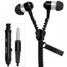 Portable Zipper Style High Fidelity Sound 1.2M Earphone with Mic for Smart Phones