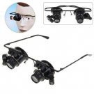 High Quality Novel Watch Repair Binocular Magnifier 20X Glasses Type With LED Light