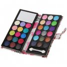 Fashion Cosmetic Set Dual-use 33 Colors Eyeshadow with Lady Pattern Leather Purse