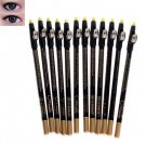 12PCS Menow Magic Longlasting Cosmetic Eye Liner Pencil with Sharpener