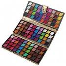 Elegant Gold Leather Case Clutch Bag Multi-color Eyeshadow Makeup Kit Cosmetic Set