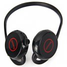 V7 Back-hang Wireless Bluetooth Headphone with In-coming Phone Function - White
