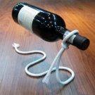 Novel Rope Wine Bottle Holder Support Floating Illusion Rack Stand (White)