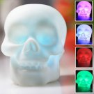 Valentines Gifts Xmas Gifts Skull Head Design Night LED Crystal Lamp with Different Colors Changing