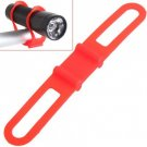 Practical Flexible Silicone Fixed Torch Bandage Small Gadgets Holder Mount Tie Strap for Bike