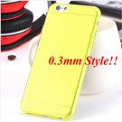 Super Flexible Clear Case For Iphone 6 4.7inch  ( COLOR THIN YELLOW