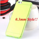 Super Flexible Clear Case For Iphone 6 4.7inch  ( COLOR THIN GREEN