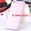 Super Flexible Clear Case For Iphone 6 4.7inch  ( COLOR THIN PINK