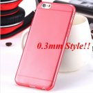 Super Flexible Clear Case For Iphone 6 4.7inch  ( COLOR THIN RED