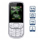D900 1.8 inch Quad Band Cell Phone Dual SIM with Camera Torch Bluetooth(color  white