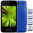Unlocked Phone with 3.5 inch WVGA Screen FM MP3 Bluetooth Browse Alarm Calendar (color  blue
