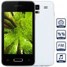 Unlocked Phone with 3.5 inch WVGA Screen FM MP3 Bluetooth Browse Alarm Calendar (color  white