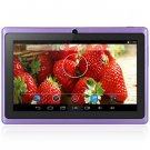 Android 4.4  Tablet PC with 7 inch WVGA Screen  Dual Core 1.3GHz Dual Cameras WiFi 4GB ROM ( purple