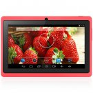 Android 4.4  Tablet PC with 7 inch WVGA Screen  Dual Core 1.3GHz Dual Cameras WiFi 4GB ROM ( red