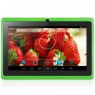 Android 4.4  Tablet PC with 7 inch WVGA Screen  Dual Core 1.3GHz Dual Cameras WiFi 4GB ROM ( green