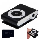 Compact MP3 Player 3.5mm Jack with 8GB Micro SD Card (color black