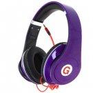 CNP-8803 Professional HD Folding Style Headphone 3.5mm Earphone Jack Headset ( color purple