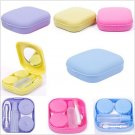Cute Pocket Mini Contact Lenses Case Travel Kit Easy Carry Mirror Container Holder #58353