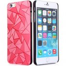 Luxury 3D Water Cube Pattern Hard Slim Back Cover Case for iPhone 6 5.5 inch RED