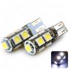 Sencart T10 5050 9 LEDs 2W White 100-120LM 6000-6500K Car Reading Light DC 12V (2 pcs)