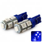 Sencart T10 5050 9 LEDs 2W 450-490nm Wavelength Blue Light Car Clearance Light DC 12V (2 pcs)