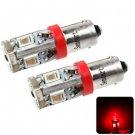 Sencart BAX9S 5730 10 LEDs 4W 635-700nm Red Light Car Dome Light DC 12 - 16V (2 pcs)