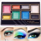 8 Color Hot Girl Party Glitter Makeup Eye Shadow Palette Set with Brush Gift Eyeshadow#63560