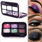 6 Color Hot Women Makeup Cosmetics Eyeshadow Palette Brush in Eye Shadow#63563