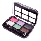 6 Color Hot Women Makeup Cosmetics Eyeshadow Palette Brush in Eye Shadow#63563