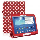 Polka Dots Leather Folio Case Cover for Samsung Galaxy Tab3 10.1 P5200 P5210