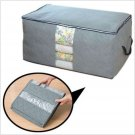65L Bamboo Charcoal Clothes Blanket Folding Storage Organizer Box Bag Closet