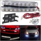 Car Daytime Running Lights 8 LED DRL Daylight Kit Super White 12V DC Head Lamp