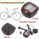 1X LCD Bike Bicycle Cycle Computer Odometer Speedometer NR 16 Function #631