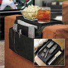 6 Pockets Arm Rest Organizer Remote Control Holder Table Bag Sofa Couch Storage #52530