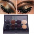 4 Color Eyeliner Gel Eyeshadow Cream Palette Smoky Eyes Makeup Set With Brush # 55401