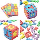 36X Puzzle Kid Educational Toy Alphabet A-Z Letters Numeral Foam Mat For Age 1~7