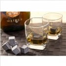 1X  Wine Whiskey Stones Glacier Rocks Cold Cool Ice Cube Bulk Drinking Bar Home
