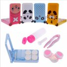 1X Cartoon Travel Contact Lenses Case Kit Holder Mirror Box Container Holder