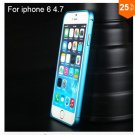 "Ultra thin Slim Aluminium Metal Bumper Frame Case For Apple Iphone 6 4.7""  COLOR BLUE"