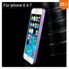 "Ultra thin Slim Aluminium Metal Bumper Frame Case For Apple Iphone 6 4.7""  COLOR PURPLE"