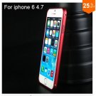 "Ultra thin Slim Aluminium Metal Bumper Frame Case For Apple Iphone 6 4.7""  COLOR RED"