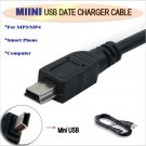 USB 2.0 MINI usb cable 5P for Canon/sony/nikon PS3 Camera MP3 MP4 player card data charging