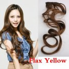 Flax Yellow LadyLong Curl Wavy Clip-on Sexy Stylish Hair Extension