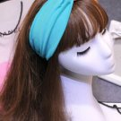 Cotton Double Color Stretchy Wide Hairband Hair Accessory Orange Dark Green