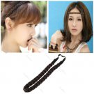 Pretty Girl Plait Braided Hair Headband Plaited Brown