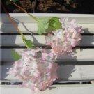 10 x  Wedding Bridal Party Home Decor Artificial Hydrangea Bouquet Silk Flowers Leaf(pink