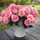 1 Bouquet French Rose Artificial Silk Flower Party Home Wedding Floral Decor New( deep pink
