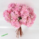 Artificial Craft Hydrangea Bouquet Party Wedding Fake Bridal Silk Flowers (color pink